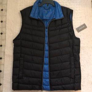 Micheal Kors men's puffer vest midnight blue NWT